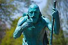 Old Age Figure - King Memorial Fountain by John Schneider
