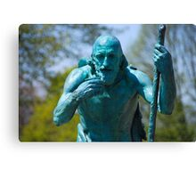 Old Age Figure - King Memorial Fountain Canvas Print