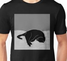 Sleeping Cat in Grey Unisex T-Shirt