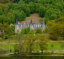 Tigh Mor castle at Loch Achray, scotland by Birgit Van den Broeck