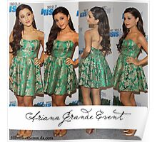Ariana Grande Event Poster With Green Dress Poster