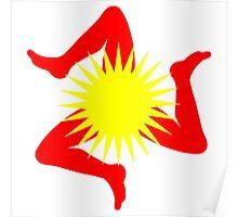Triscele Sun Poster
