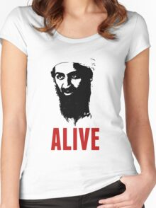 Osama Bin Laden is Alive Shirt Women's Fitted Scoop T-Shirt