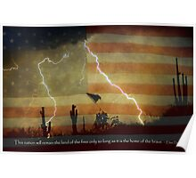 Land of the Free Home of the Brave Poster