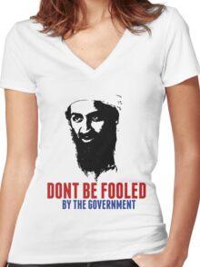 Osama Bin Laden is Still Alive Shirt Women's Fitted V-Neck T-Shirt