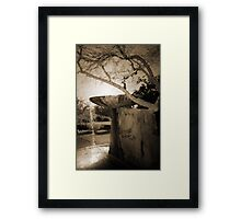 Fountain at Frank Lloyd Wright's Taliesin West Framed Print