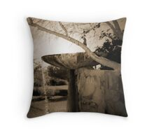 Fountain at Frank Lloyd Wright's Taliesin West Throw Pillow