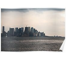 NYC Financial District at Dusk Poster