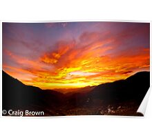 Sunset at the Saddle Poster