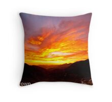 Sunset at the Saddle Throw Pillow