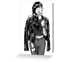 Jacket girl Greeting Card