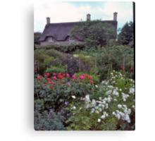 Cottage garden#3, Stratford-upon-Avon, UK Canvas Print