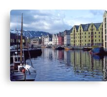 Fishing port, Alesund, Norway. Canvas Print