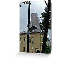 High Rise Reflection 6 - Downtown - Austin Texas Series - 2011 Greeting Card