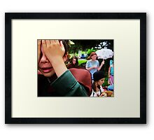 """Do any men grow up or do they only come of age?"" Framed Print"
