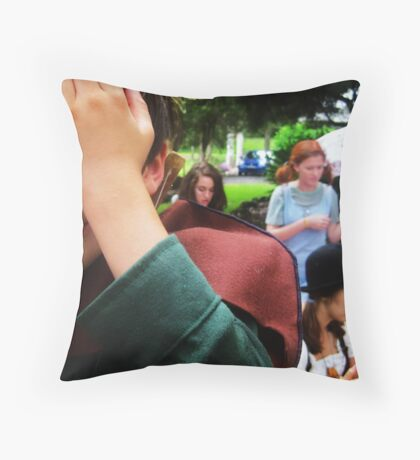 """""""Do any men grow up or do they only come of age?"""" Throw Pillow"""
