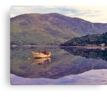 Loch Leven, reflections, Glencoe, Scotland. Canvas Print