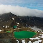 Emerald Lakes - Tongariro National Park, New Zealand by Phil McComiskey