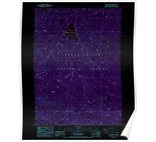 USGS Topo Map Oregon Willow Lake 282108 1988 24000 Inverted Poster