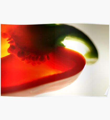Red pepper slice Poster