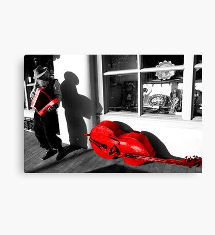 Busker (Video of his wonderful music) Canvas Print