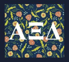 Alpha Xi Delta Letters Baby Tee