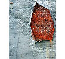 Rusty hole Photographic Print
