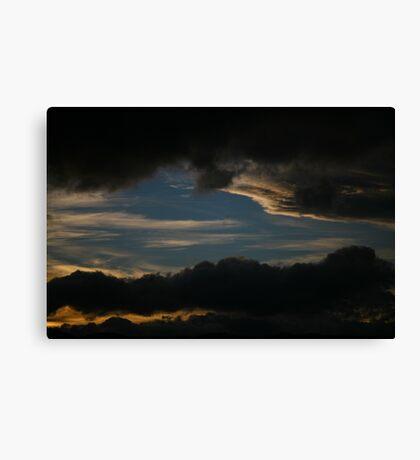 sunset layer. tasmania, australia Canvas Print