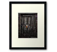 """""""Nobody Home"""" Framed Print"""
