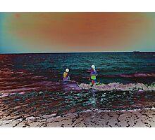 Metallic water Photographic Print