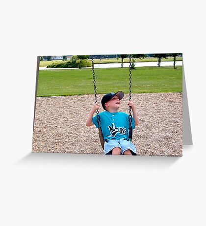 Smiling and swinging Greeting Card