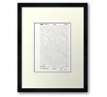 USGS Topo Map Oregon Green Mountain 20110818 TM Framed Print