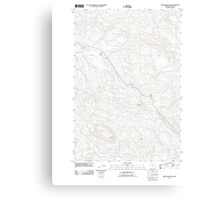 USGS Topo Map Oregon Green Mountain 20110818 TM Canvas Print