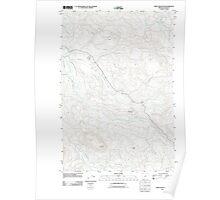 USGS Topo Map Oregon Green Mountain 20110818 TM Poster