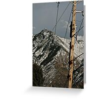 Power to the Mountains Greeting Card