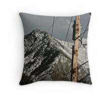 Power to the Mountains Throw Pillow