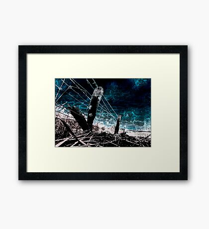 Burnt Fence Framed Print
