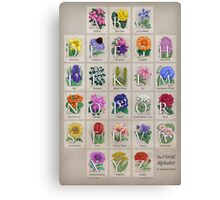The Floral Alphabet Canvas Print
