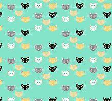 Kitties - Aquamint by Lisa Argyropoulos