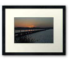 Twilight glow - Long Jetty Framed Print