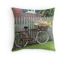 A Rural Ride Throw Pillow