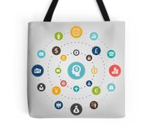 Business an orbit Tote Bag