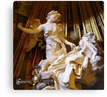 The ecstasy of St Theresa  Canvas Print