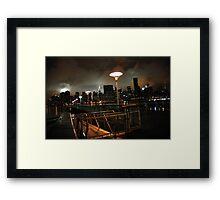 Batman's Gotham-like NYC Framed Print