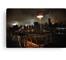 Batman's Gotham-like NYC Canvas Print