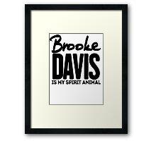 Brooke Davis Framed Print