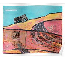 tractor scape Poster