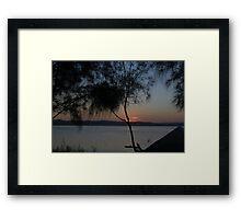 Trees Over Sunset - Long Jetty Framed Print