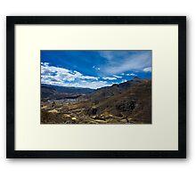 Chivay, Colca Canyon, Peru Framed Print