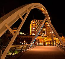 The Pedestrian Bridge  Melbourne by James  Key
